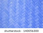 Blue Wood Striped Woven Texture