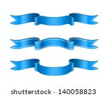 blue ribbons set isolated on... | Shutterstock . vector #140058823