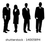 4 business people | Shutterstock . vector #14005894