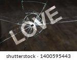 the concept of broken love.... | Shutterstock . vector #1400595443