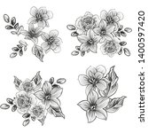 flowers set. collection of... | Shutterstock . vector #1400597420