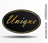 unique label | Shutterstock . vector #140060164