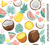 modern seamless pattern with... | Shutterstock .eps vector #1400604959