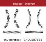 baseball  stitches  on a white... | Shutterstock .eps vector #1400607893