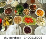 traditional georgian table for... | Shutterstock . vector #1400615003