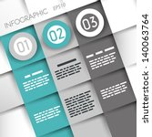 turquoise square infographic... | Shutterstock .eps vector #140063764