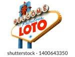 loto on famous las vegas sign   Shutterstock . vector #1400643350
