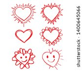 hand drawn heart icon sign | Shutterstock .eps vector #1400645066