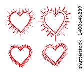 hand drawn heart icon sign | Shutterstock .eps vector #1400646239