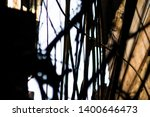 silhouette view of wire tangles ... | Shutterstock . vector #1400646473
