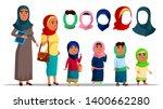 arabian characters women... | Shutterstock .eps vector #1400662280