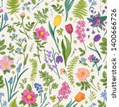 Floral Seamless Pattern With...