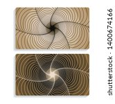 two cards background with...   Shutterstock .eps vector #1400674166
