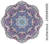 mandala  tracery wheel mehndi...   Shutterstock .eps vector #1400684600