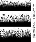 seamless vector border of grass ... | Shutterstock .eps vector #140069479