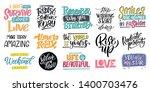 set hand drawn lettering phrase ...   Shutterstock .eps vector #1400703476