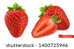 strawberry vectorized image.... | Shutterstock .eps vector #1400725946