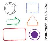 stamps grunge frames on white... | Shutterstock .eps vector #1400730659