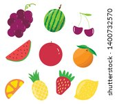 fruit icons set.healthy food... | Shutterstock .eps vector #1400732570