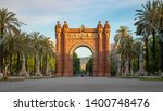 the arc de triomf is a... | Shutterstock . vector #1400748476