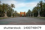 the arc de triomf is a... | Shutterstock . vector #1400748479