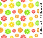 seamless pattern with citrus... | Shutterstock .eps vector #1400757503
