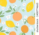 seamless pattern with lemons... | Shutterstock .eps vector #1400774663