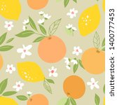 seamless pattern with lemons... | Shutterstock .eps vector #1400777453