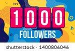 creative illustration of 1000... | Shutterstock . vector #1400806046