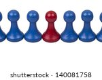 pawns in a row  team work | Shutterstock . vector #140081758