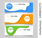 sale banners collection with... | Shutterstock . vector #1400822273