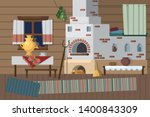 traditional russian and... | Shutterstock .eps vector #1400843309