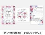 wedding invitation set blush... | Shutterstock .eps vector #1400844926