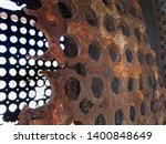 rusted decaying iron panels... | Shutterstock . vector #1400848649