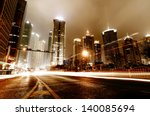 Light Trails On The Street In...