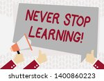 text sign showing never stop... | Shutterstock . vector #1400860223