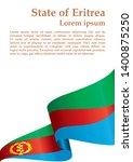 flag of eritrea  state of... | Shutterstock .eps vector #1400875250
