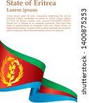 flag of eritrea  state of... | Shutterstock .eps vector #1400875253