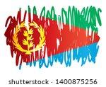 flag of eritrea  state of... | Shutterstock .eps vector #1400875256