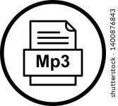 mp3 file document icon in... | Shutterstock . vector #1400876843