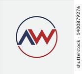initial letter wa aw logo... | Shutterstock .eps vector #1400879276