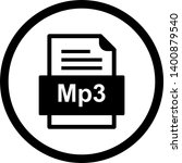 mp3 file document icon in... | Shutterstock . vector #1400879540