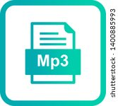 mp3 file document icon in... | Shutterstock . vector #1400885993