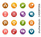 rainbow   love and dating icons ... | Shutterstock .eps vector #140089306