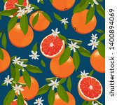 seamless pattern orange fruits... | Shutterstock .eps vector #1400894069