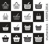 the basket shoping icon. shop...