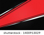 abstract red silver line banner ... | Shutterstock .eps vector #1400913029