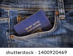 A Blue Passport Of The State Of ...