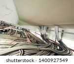 power cables and instrument... | Shutterstock . vector #1400927549