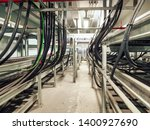 power cables and instrument... | Shutterstock . vector #1400927690